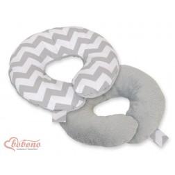 Cestovní polštářek oboustranný pro miminko - CIKCAK šedý