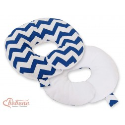 Cestovní polštářek oboustranný pro miminko - CIKCAK tmavě modrý