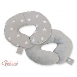 Cestovní polštářek oboustranný pro miminko - hvězdy na šedém