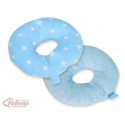 Cestovní polštářek oboustranný pro miminko - hvězdy na modrém
