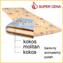 Matrace do postýlky 120x60 cm KOKOS - MOLITAN - KOKOS