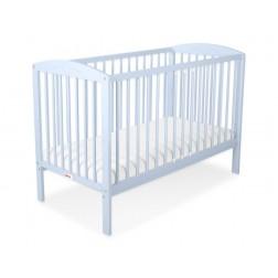 Dětská postýlka vyřezávané SRDCE modrá