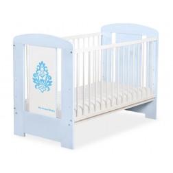 Dětská postýlka GLAMOUR modrá / modrý ornament