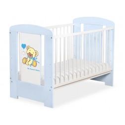 Dětská postýlka modrá MÉĎA S MAŠLÍ - modrá