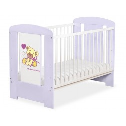 Dětská postýlka fialová MÉĎA S MAŠLÍ - fialová