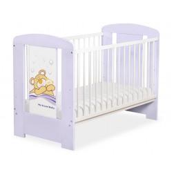 Dětská postýlka fialová BARNABÁŠ - fialová