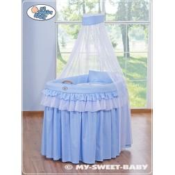 Proutěný koš pro miminko kolekce KORUNA - modrá