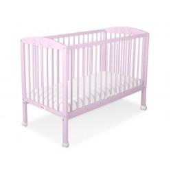 Dětská postýlka vyřezávané HVĚZDY růžové + kolečka