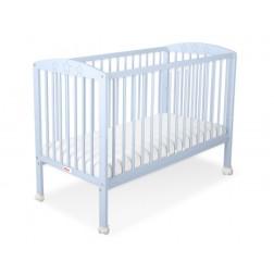 Dětská postýlka vyřezávané HVĚZDY modré + kolečka