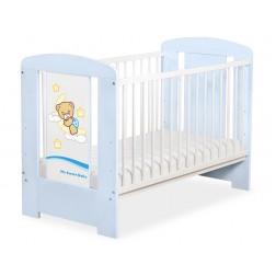 Dětská postýlka modrá DOBROU NOC - modrá