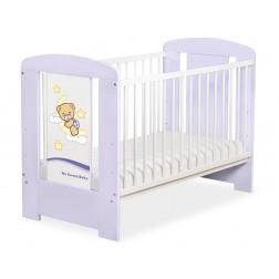 Dětská postýlka fialová DOBROU NOC - fialová