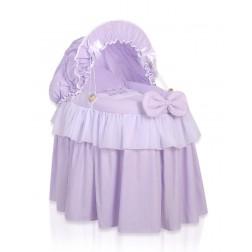 Romantická postýlka pro panenku s boudou - Koruna fialová