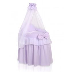 Romantická postýlka pro panenku s nebesy - Koruna fialová