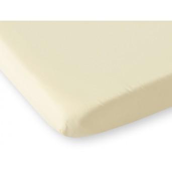 Bavlněné prostěradlo 120x60 cm - krémové
