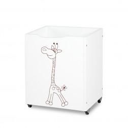 Box na hračky Klupś SAFARI žirafa - bílá