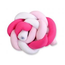 Mantinel pletený do copu MAGIC LOOP - bílá + růžová + tmavě růžová