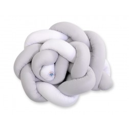Mantinel pletený do copu MAGIC LOOP - bílá + šedá