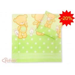 Souprava do kočárku BASIC - velký medvěd zelený