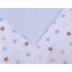 Povlečení do postýlky 2 díly FUN & JOY - hvězdy modré