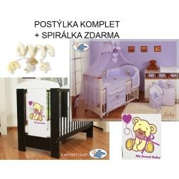 Dětská postýlka MÉĎA S MAŠLÍ komplet 325 + SPIRÁLKA ZDARMA