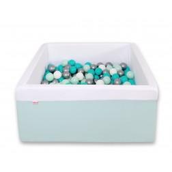 Čtvercový suchý bazén s 200 míčky (dle vlastního výběru) - mátová