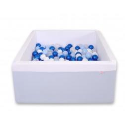Čtvercový suchý bazén s 200 míčky (dle vlastního výběru) - modrá