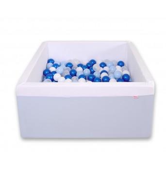 Čtvercový suchý bazén s 200 míčky - modrá