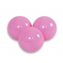 Plastové míčky do suchého bazénu 50 ks - pudrově růžová
