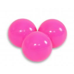 Plastové míčky do suchého bazénu 50 ks - růžová