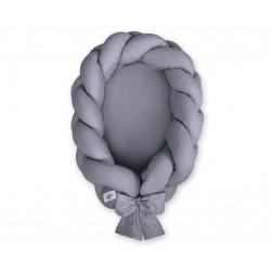 Kokon pro miminko pletený 2v1 MAGIC LOOP - antracitový