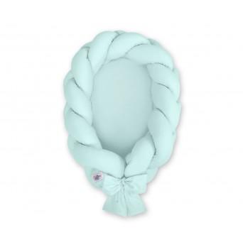 Kokon pro miminko pletený 2v1 MAGIC LOOP - světle mátový
