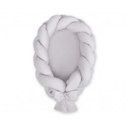 Kokon pro miminko pletený 2v1 MAGIC LOOP - šedý