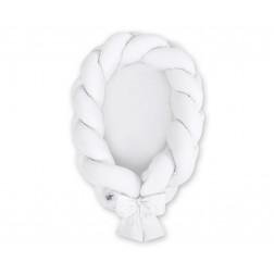 Kokon pro miminko pletený 2v1 MAGIC LOOP - bílý