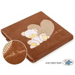 Dětská deka kolekce MILO - hnědá