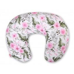 Kojící polštář se snímatelným potahem - peonie růžová