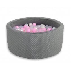 Kruhový suchý bazén MINKY s 200 míčky - tmavě šedý