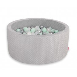 Kruhový suchý bazén MINKY s 200 míčky - šedý