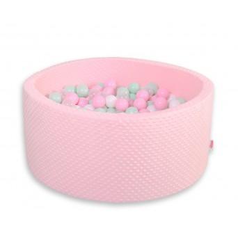 Kruhový suchý bazén MINKY s 200 míčky - růžový