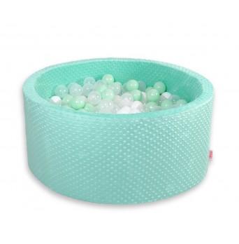 Kruhový suchý bazén MINKY s 200 míčky - mátový