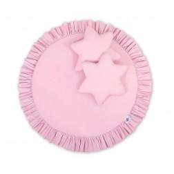 Deka na hraní s volánem a polštářky - růžová