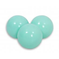 SKLADEM - Plastové míčky do suchého bazénu 50 ks - aqua