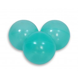 SKLADEM - Plastové míčky do suchého bazénu 50 ks - aqua transparent