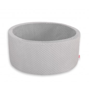 SKLADEM - Kruhový suchý bazén bez míčků - MINKY šedý
