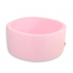Kruhový suchý bazén bez míčků - MINKY růžový