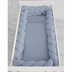 Mantinel XXL pletený do copu MAGIC LOOP - retro modrá