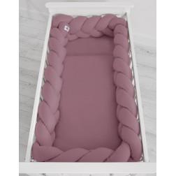 Mantinel XXL pletený do copu MAGIC LOOP - retro růžová