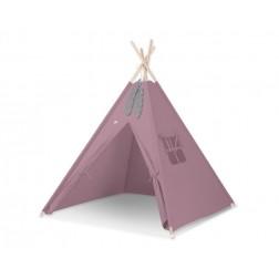 Dětský stan TÝPÍ (bez deky na podlaze a bez polštářků) - retro růžová