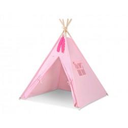 Dětský stan TÝPÍ (bez deky na podlaze a bez polštářků) - růžová