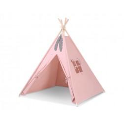 Dětský stan TÝPÍ (bez deky na podlaze a bez polštářků) - starorůžová