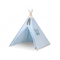Dětský stan TÝPÍ (bez deky na podlaze a bez polštářků) - modrá